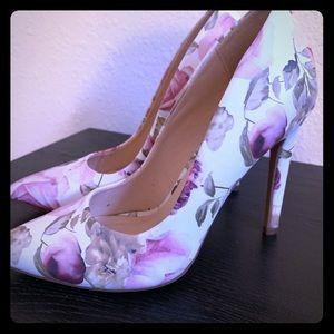 Delicious floral print heels